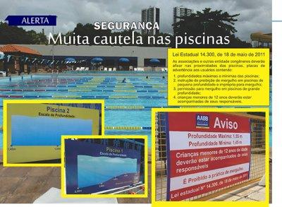 Alerta/Segurança - Muita cautela nas piscinas