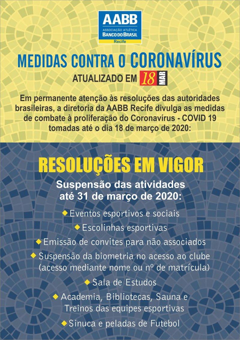 NOVAS MEDIDAS ATUALIZADAS EM 18 DE MARÇO