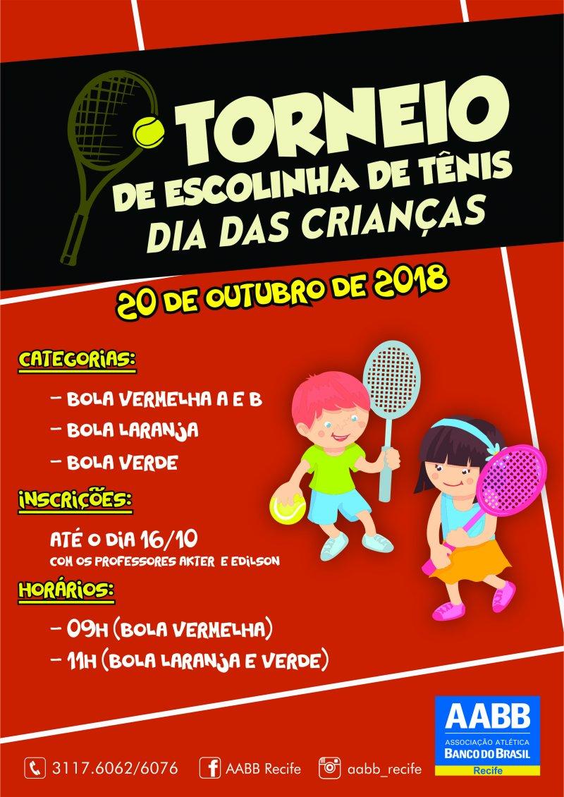 TORNEIO DE ESCOLINHA DE TÊNIS – DIA DAS CRIANÇAS!